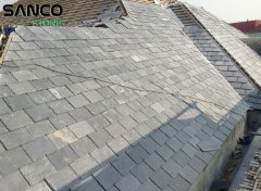 Construction Site Of Black Slate Roof Tiles